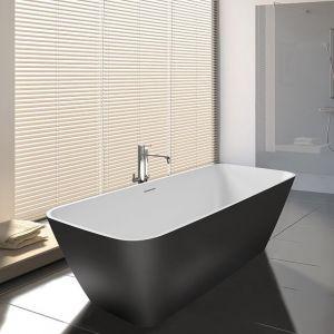 Ванна из литого мрамора 160 x 75 см Riho Malaga с сифоном