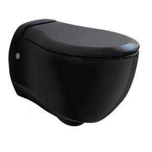 Унитаз подвесной ArtCeram Blend с сиденьем Soft Close, чёрный