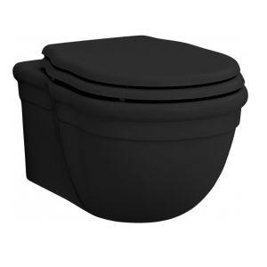 Унитаз подвесной ArtCeram Hermitage с сиденьем Soft Close, чёрный