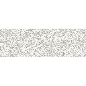 Декор настенный Opoczno Pret a Porter White Inserto Flower 75 × 25 см