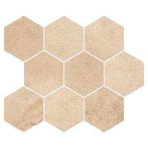 Мозаика Opoczno Sahara Beige Hexagon 33,7 × 28 см