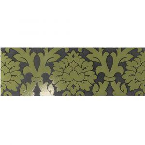 Керамогранит Settecento New Baroque Decoro Velvet A+B Black/Green 24 х 72 см
