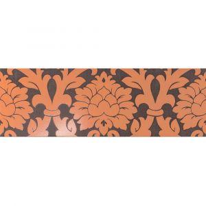 Керамогранит Settecento New Baroque Decoro Velvet A+B Moka/Orange 24 х 72 см