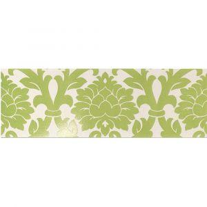 Керамогранит Settecento New Baroque Decoro Velvet A+B White/Green 24 х 72 см