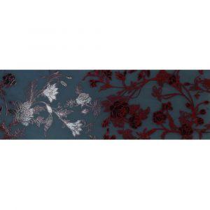 Керамогранит Settecento Boudoir Decoro Chinoise Rosso su Nero 31,9 x 96,3 см
