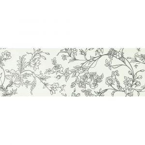 Керамогранит Settecento Boudoir Decoro Chinoise Nero su Bianco 31,9 x 96,3 см