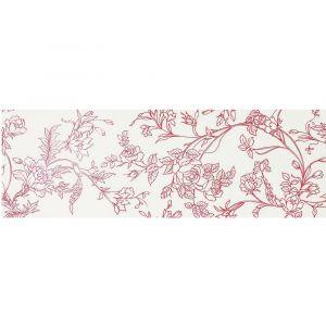 Керамогранит Settecento Boudoir Decoro Chinoise Rosso su Bianco 31,9 x 96,3 см