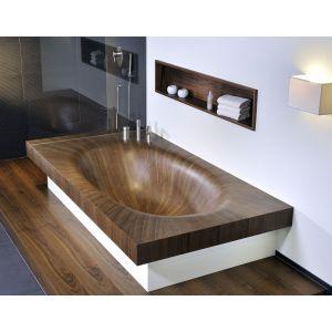 Деревянная ванна Alegna Laguna Basic 230 х 120 см Nussbaum матовая, без панели