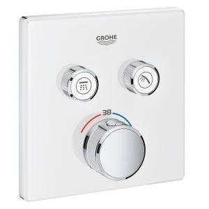 Термостатический смеситель для ванны Grohe SmartControl (цвет - белый/хром)
