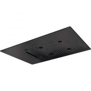 Верхний душ 550 х 400 мм, 3 функции Cisal (цвет - чёрный матовый)