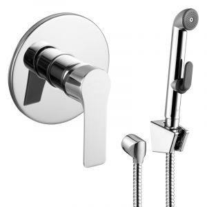 Смеситель скрытого монтажа с гигиеническим душем Imprese Kucera (цвет - хром)