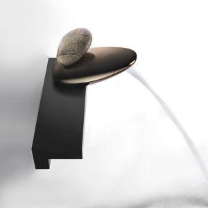 Настенная полка для установки смесителя Gessi Equilibrio (цвет - чёрный)