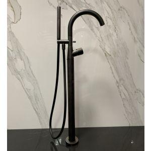 Смеситель для ванны отдельностоящий Fantini Nostromo (цвет - Matt Gun Metal PVD), в комлекте со скрытой частью