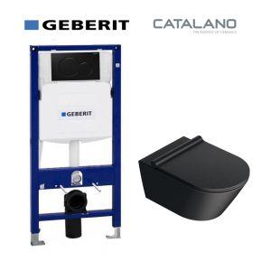 Инсталляция Geberit Duofix (4-в-1) комплект 111.300.00.5 с унитазом Catalano Zero 1VS55NRNS + сиденье Soft Close