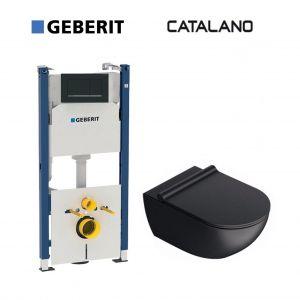 Инсталляция Geberit Duofix (4-в-1) комплект 111.300.00.5 с унитазом Catalano Sfera 1VSF54RNS + сиденье Soft Close