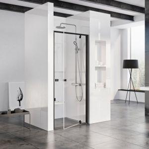 Душевая дверь Ravak Pivot PDOP1 900 х h1900 мм (профиль - чёрный, стекло - прозрачное)