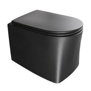 Унитаз подвесной Axa DP NoRim с сиденьем Soft Close, чёрный матовый