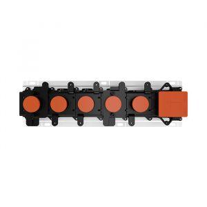 Встраиваемая часть для термостатического смесителя на 4 потребителя Gessi