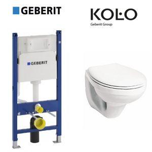 Инсталляция Geberit Duofix (4-в-1) комплект 458.126.00.1  с унитазом Kolo Idol M1310000U + (сиденье полипропилен)