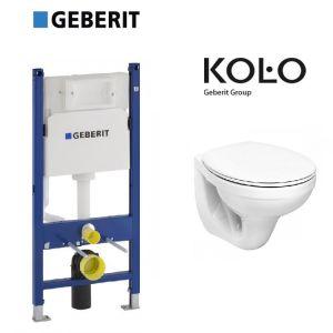 Инсталляция Geberit Duofix (4-в-1) комплект 458.126.00.1 с унитазом Kolo Idol M1310002U + (сиденье Soft Close)
