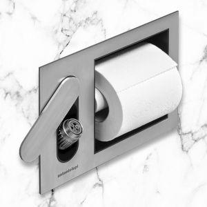 Бумагодержатель и гигиенический душ. встроенные Antonio Lupi Carta Intenso Satin Stainless Stee